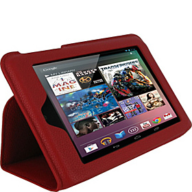 Ultra-Slim Vegan Leather Case for Google Nexus 7 Tablet Red