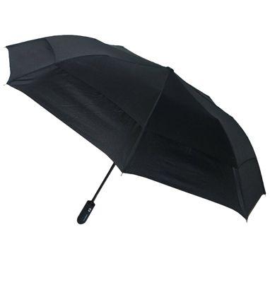 London Fog Umbrellas Sport Auto Open/Close Umbrella Black - London Fog Umbrellas Umbrellas and Rain Gear