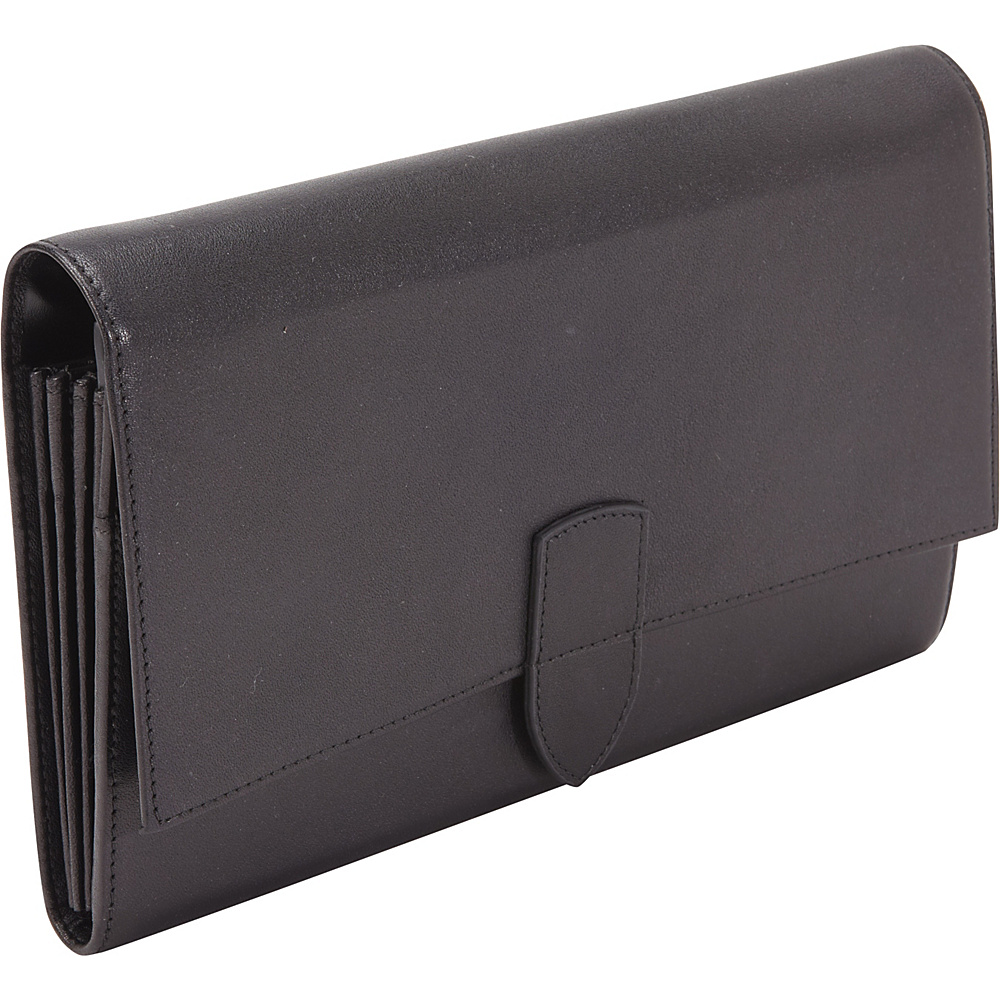 Royce Leather Diplomat Passport Wallet Black - Royce Leather Travel Wallets - Travel Accessories, Travel Wallets