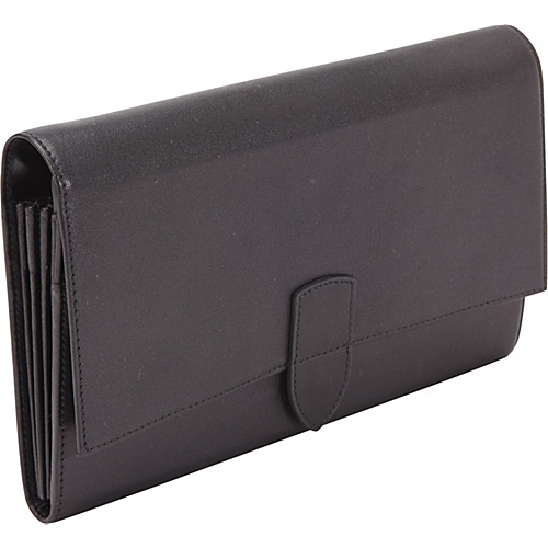 Royce Leather Diplomat Passport Wallet Black - Royce Leather Travel Wallets