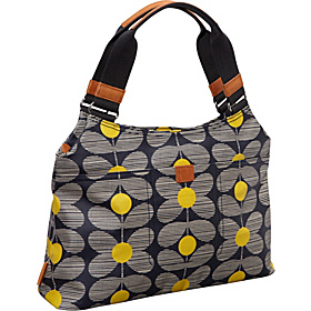 Daisy Stem Print Classic Shoulder Bag Yellow