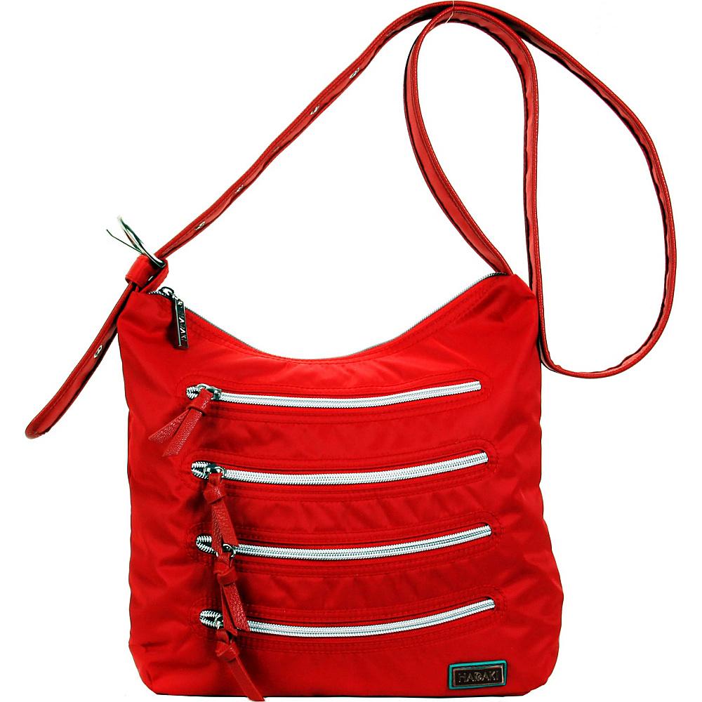 Hadaki Nylon Millipede Tote Tango Red - Hadaki Fabric Handbags - Handbags, Fabric Handbags