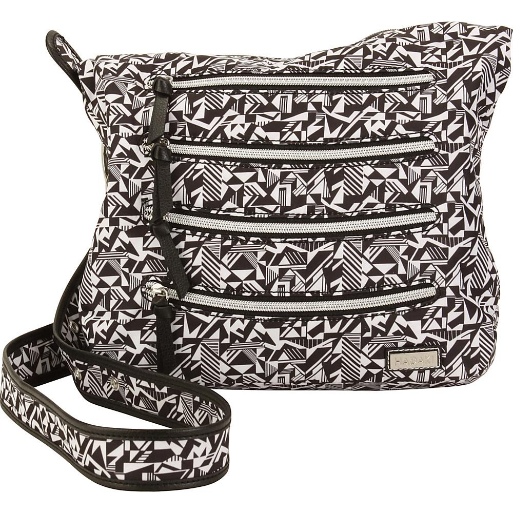 Hadaki Nylon Millipede Tote Black & White - Hadaki Fabric Handbags - Handbags, Fabric Handbags