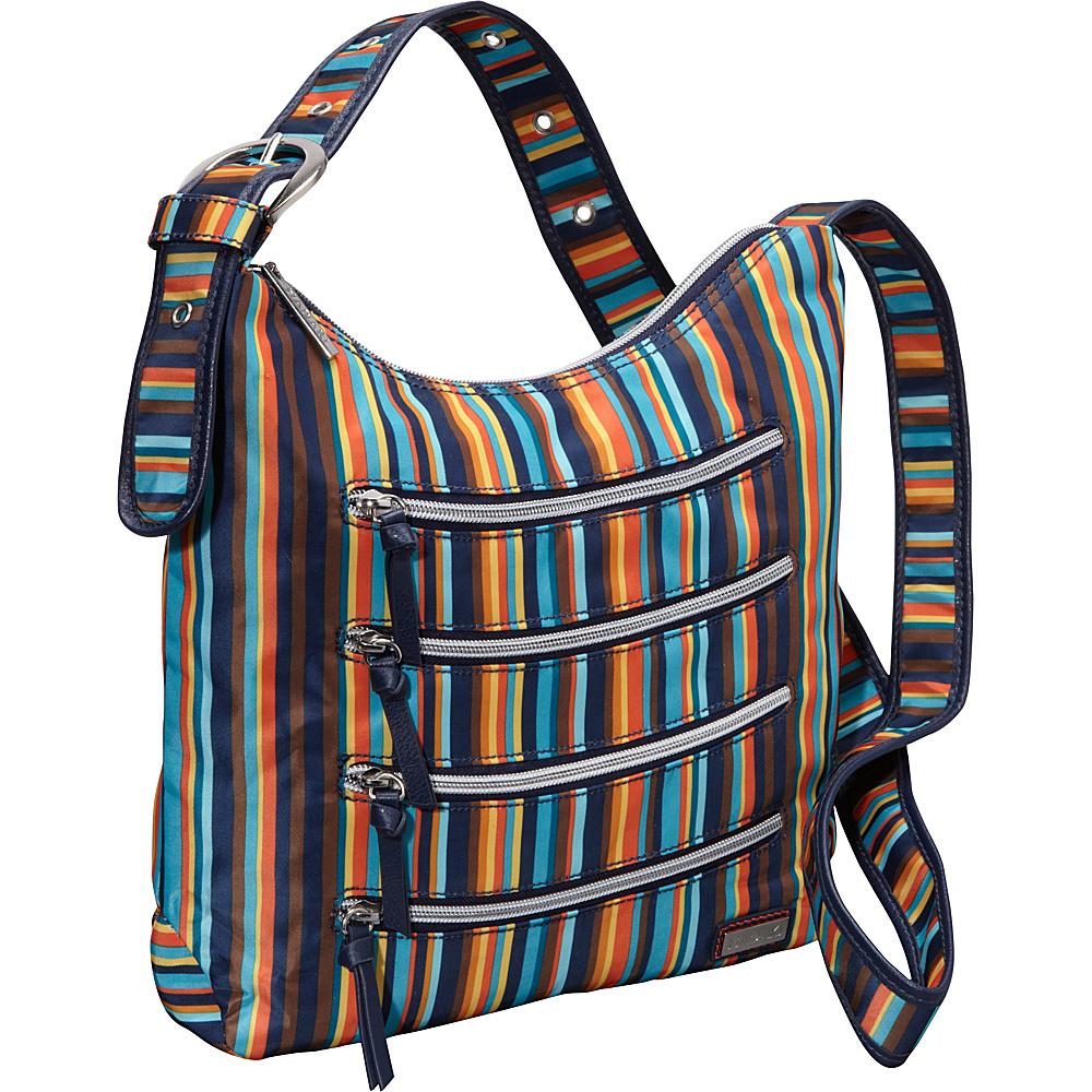Hadaki Nylon Millipede Tote Arabesque Stripes - Hadaki Fabric Handbags - Handbags, Fabric Handbags