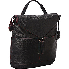 Unzipped Flap Hobo Black