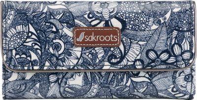 Sakroots Artist Circle Trifold Wallet Navy Spirit Desert - Sakroots Women's Wallets