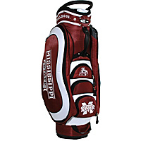 Team Golf NCAA Mississippi State University Bulldogs Medalist Cart Bag Maroon - Team Golf Golf Bags
