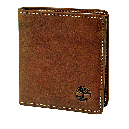 Timberland Wallets Hookset Leather Square Wallet Brown - Timberland Wallets Mens Wallets