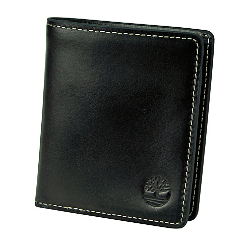 Timberland Wallets Hookset Leather Square Wallet Black - Timberland Wallets Mens Wallets