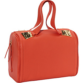Dexter 2 Shrunken Leather Duffel Coral