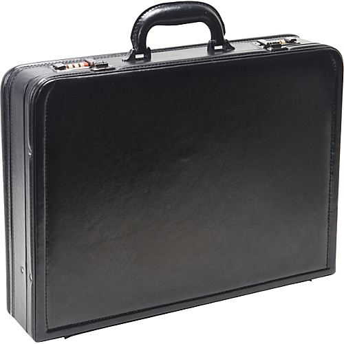 eBags Laptop Collection Wall Street Leather Expandable Laptop Attache Black - eBags Laptop Collection Non-Wheeled Computer Cases