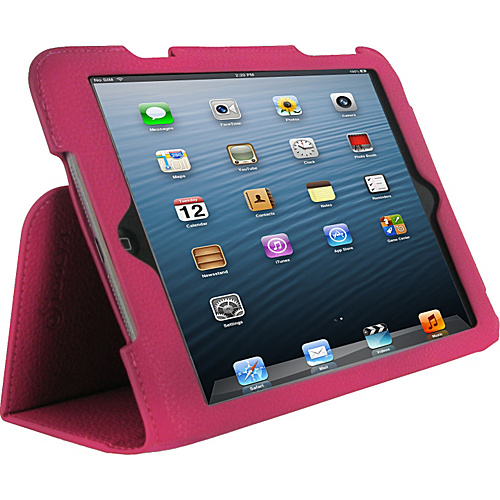 rooCASE Ultra Slim Vegan Leather Case for iPad mini Magenta - rooCASE Laptop Sleeves