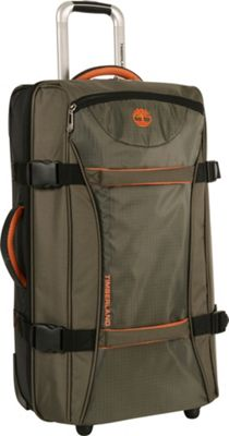 Timberland Twin Mountain 26 inch Wheeled Duffle Burnt Orange - Timberland Softside Checked