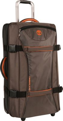 Timberland Twin Mountain 26 inch Wheeled Duffle Cocoa - Timberland Softside Checked
