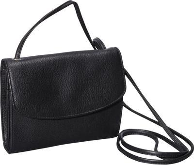 Derek Alexander Small Half Flap Organizer Black - Derek Alexander Leather Handbags