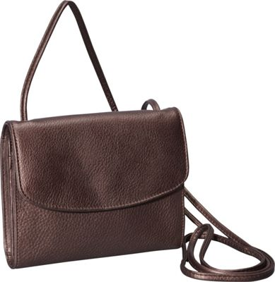 Derek Alexander Small Half Flap Organizer Bronze - Derek Alexander Leather Handbags