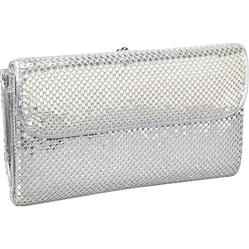 Whiting and Davis Wallet With Checkbook Cover Silver
