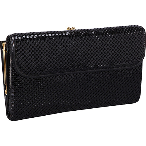 Whiting and Davis Wallet With Checkbook Cover Black