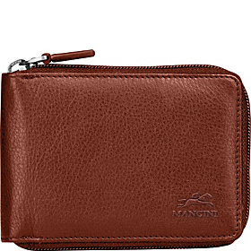 Men's Zippered Wallet Cognac