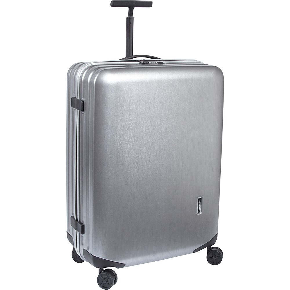 "Samsonite Inova 28"" Hardside Spinner Luggage Metallic Silver - Samsonite Hardside Checked"