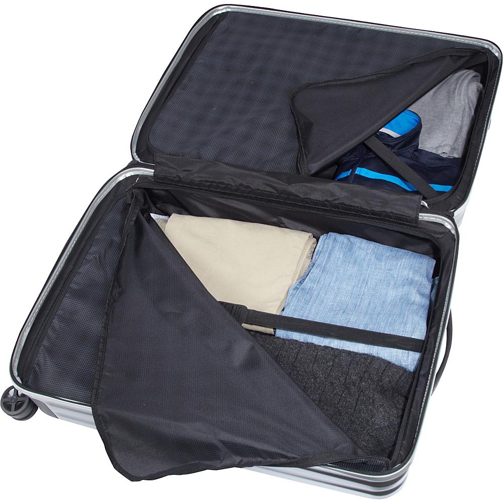 "Samsonite Inova 28"" Hardside Spinner Luggage Metallic Silver - Samsonite Hardside Checked"