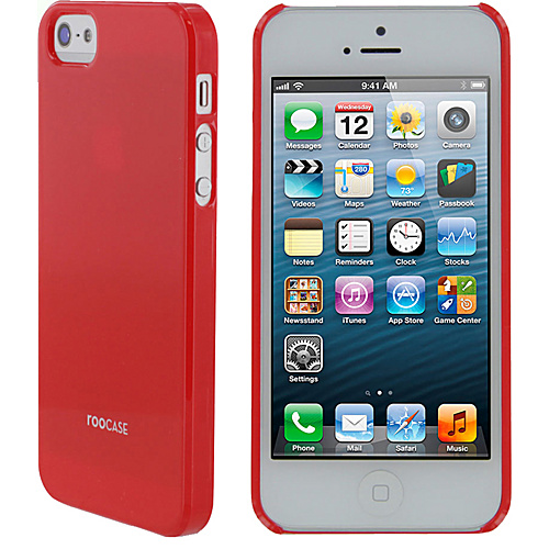 rooCASE Ultra Slim Matte Shell Case for iPhone 5 Red - rooCASE Personal Electronic Cases