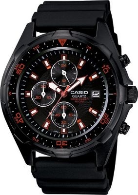 Casio Casio Men's Black Analog Multi-Function Watch Black - Casio Watches