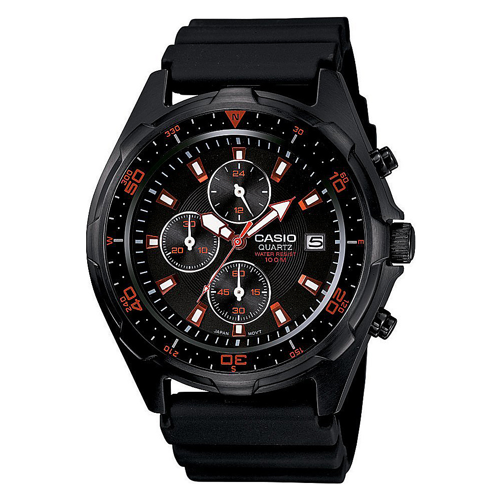 Casio Men's Black Analog Multi-Function Watch Black - Casio Watches