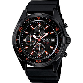 Men's Black Analog Multi-Function Watch  Black
