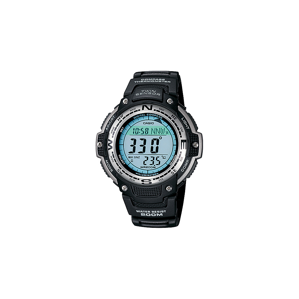 Casio Men's Digital Compass Twin Sensor Sport Watch Black - Casio Watches
