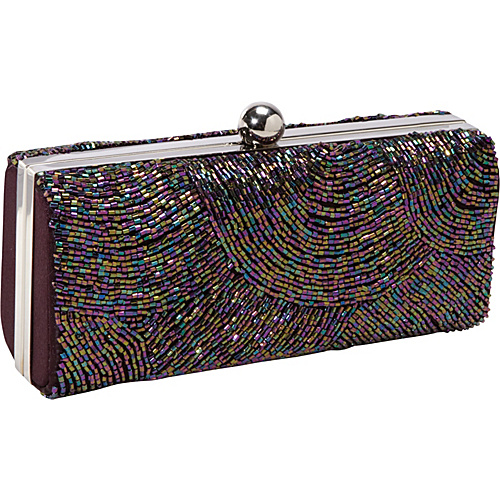 J. Furmani Hardcase Beaded Evening Bag PURPLE - J. Furmani Evening Bags