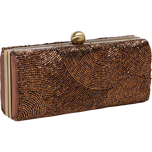 J. Furmani Hardcase Beaded Evening Bag Bronze - J. Furmani Evening Bags