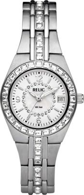 Relic Queen's Court Stainless Steel Watch Silver - Relic Watches