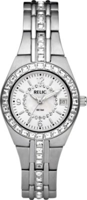 Delightful RELIC Queenu0027s Court Stainless Steel Watch Silver   Relic .
