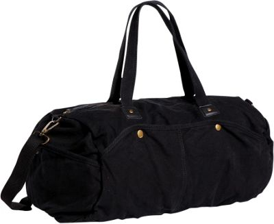 Vagabond Traveler Large Canvas Duffel Black - Vagabond Traveler Travel Duffels