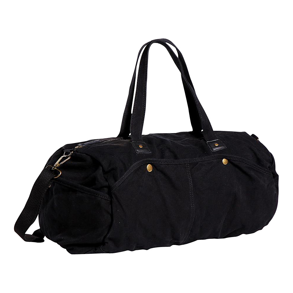 Vagabond Traveler Large Canvas Duffel Black Vagabond Traveler Travel Duffels