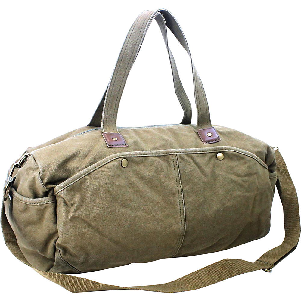 Vagabond Traveler Large Canvas Duffel Military Green - Vagabond Traveler Travel Duffels - Duffels, Travel Duffels