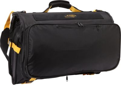 A. Saks Deluxe Expandable Tri -Fold  Carry-On Garment Bag Black - A. Saks Garment Bags