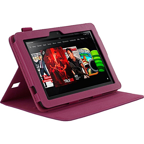 rooCASE Dual-View Leather Case for Kindle Fire HD 8.9 Magenta - rooCASE Laptop Sleeves