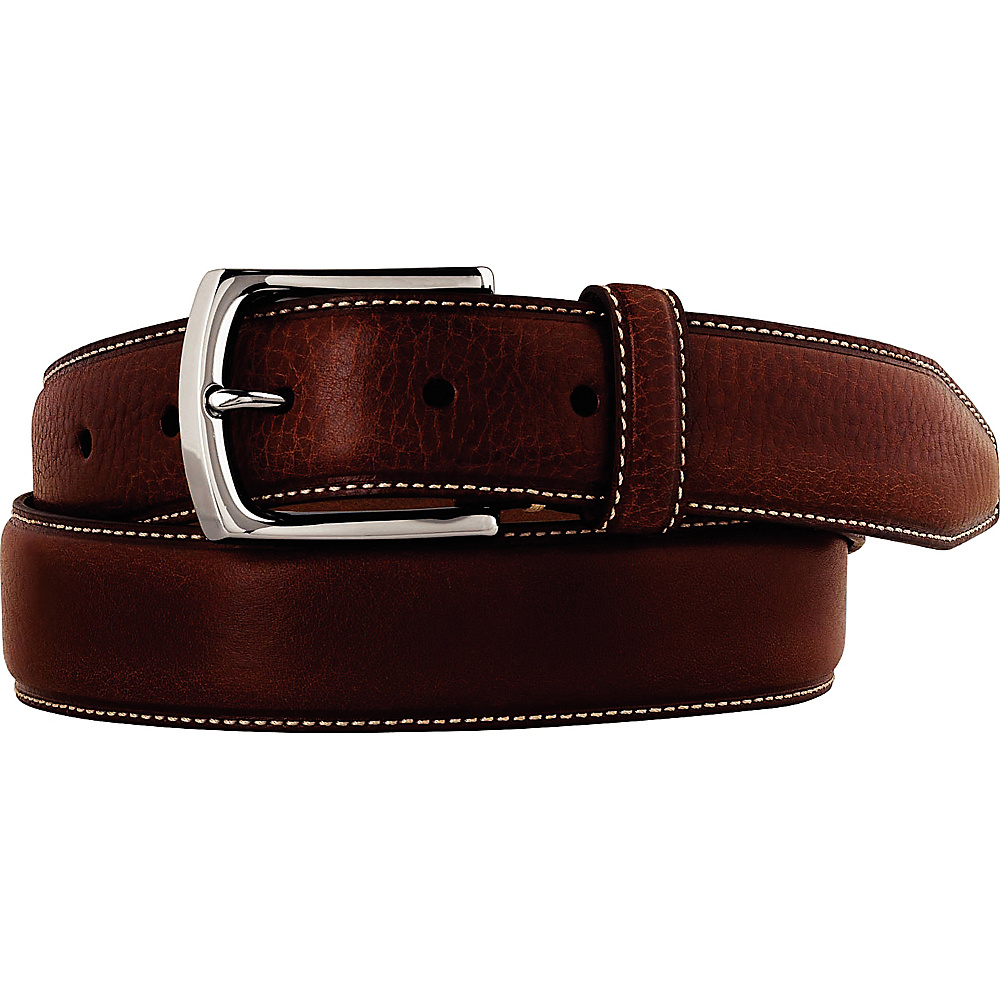 Johnston Murphy Topstitched Belt Brown 42 Johnston Murphy Other Fashion Accessories