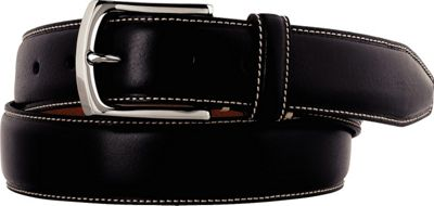 Johnston & Murphy Topstitched Belt Black - Size 34 - Johnston & Murphy Other Fashion Accessories