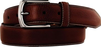 Johnston & Murphy Johnston & Murphy Topstitched Belt Brown - Size 34 - Johnston & Murphy Other Fashion Accessories