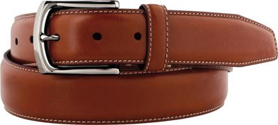 Johnston & Murphy Topstitched Belt Cognac - Size 34 - Johnston & Murphy Other Fashion Accessories