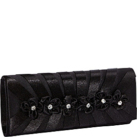 Flower Clutch Black