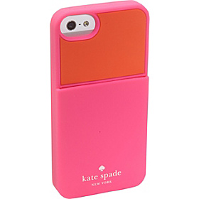Colorblocked Pocket Silicone iPhone 5 Case Zinnia/Orange