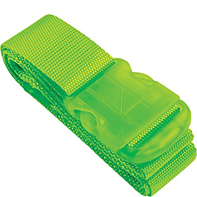 Neon Luggage Strap Green