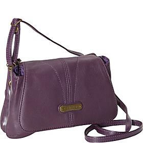 Small Leather Shoulder Bag Purple
