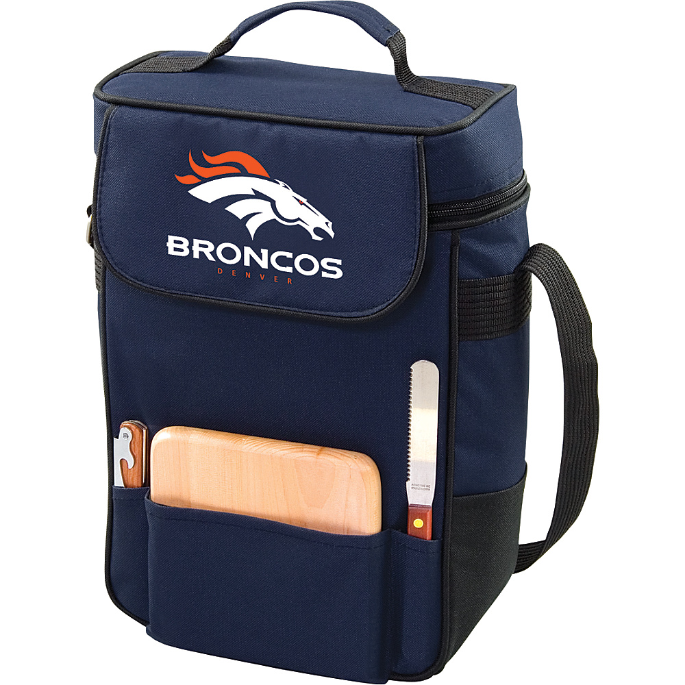Picnic Time Denver Broncos Duet Wine & Cheese Tote Denver Broncos Navy - Picnic Time Outdoor Coolers - Outdoor, Outdoor Coolers