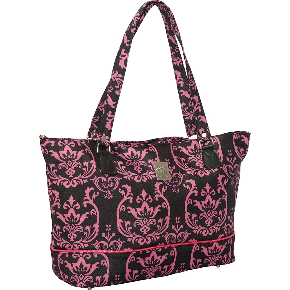 Jenni Chan Damask Laptop Computer Work Tote Pink - Jenni Chan Ladies' Business