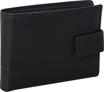 Mancini Leather Goods RFID Secure Collection: Men's RFID Wallet with Coin Pocket Black - Mancini Leather Goods Men's Wallets